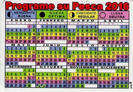 calendario de pesca 2016