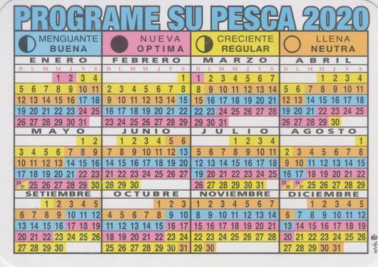 Calendário de pesca 2020